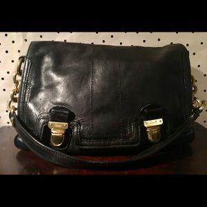 Coach vintage black leather handbag purse bag